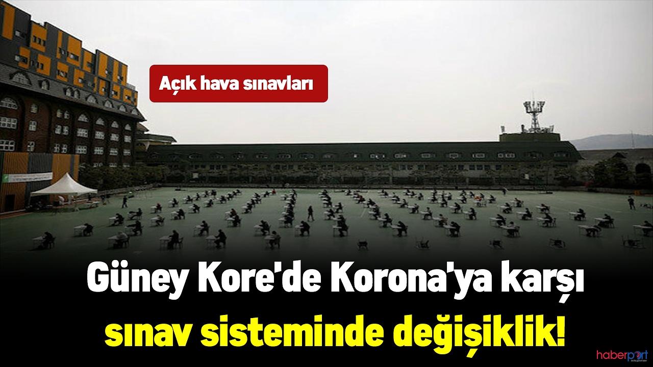 Güney Kore'de Korona'ya karşı sınav sisteminde değişiklik! Açık hava sınavları