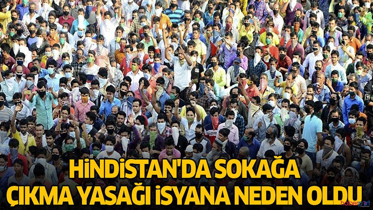 Hindistan halkından sokağa çıkma yasağına protesto geldi