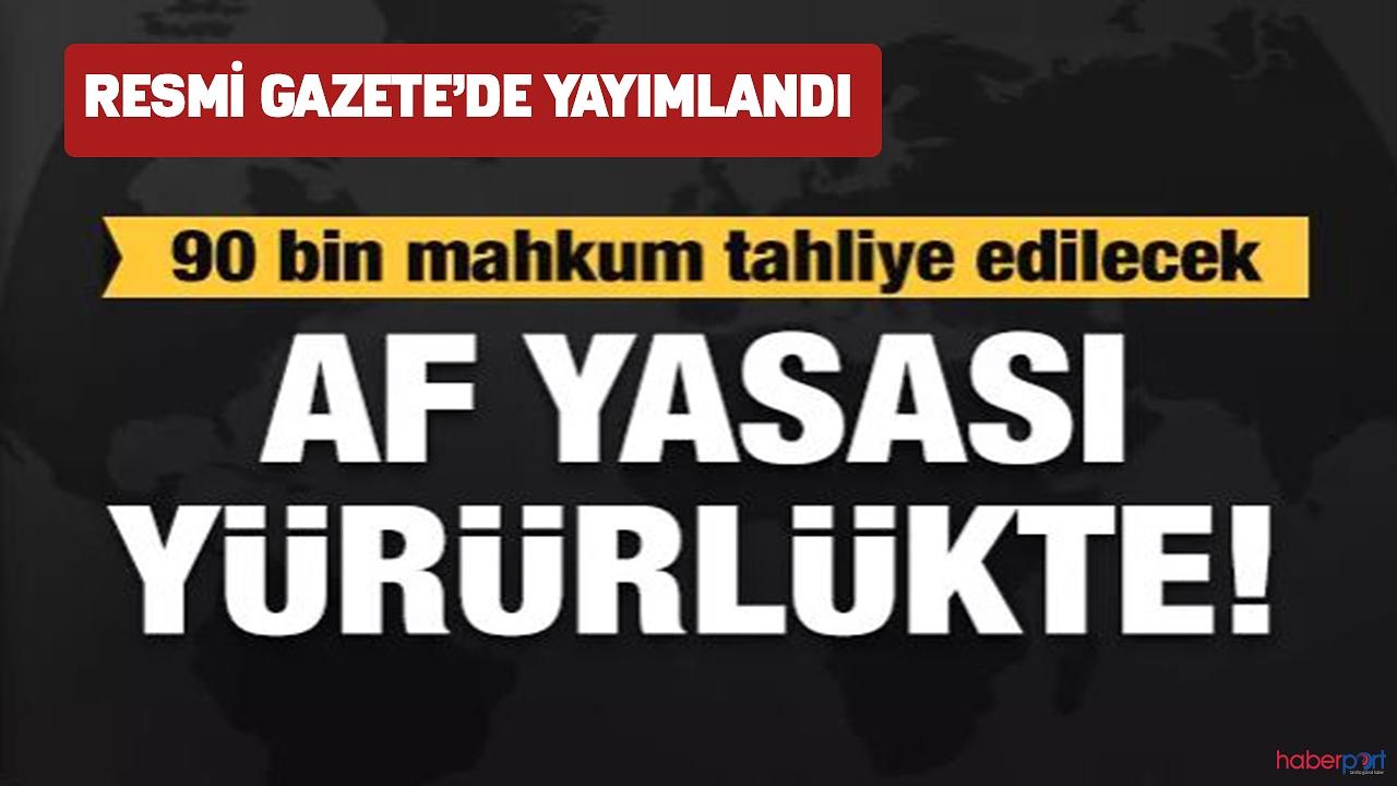 İnfaz yasası resmi gazete'de yayımlanarak yürürlüğe girdi