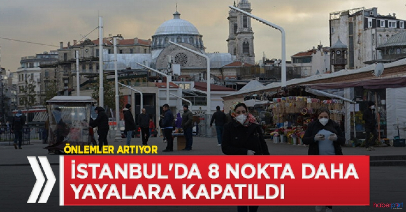İstanbul'da 8 yürüyüş yolu tedbir kapsamında yayalara kapatıldı