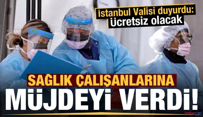 İstanbul Valiliğinden sağlık çalışanlarına destek! 12 bin 500 ücretsiz taksi seferi