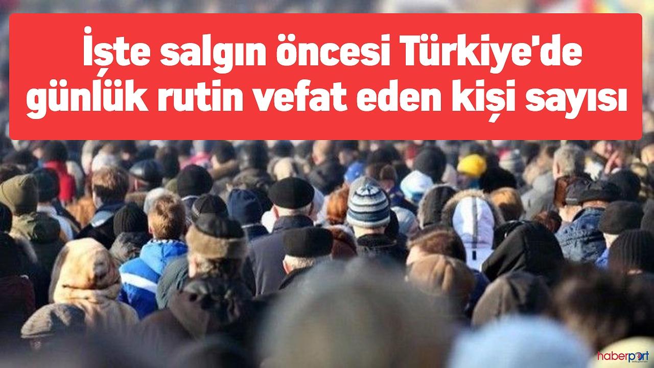 İşte Türkiye'de günde vefat eden kişi sayısı