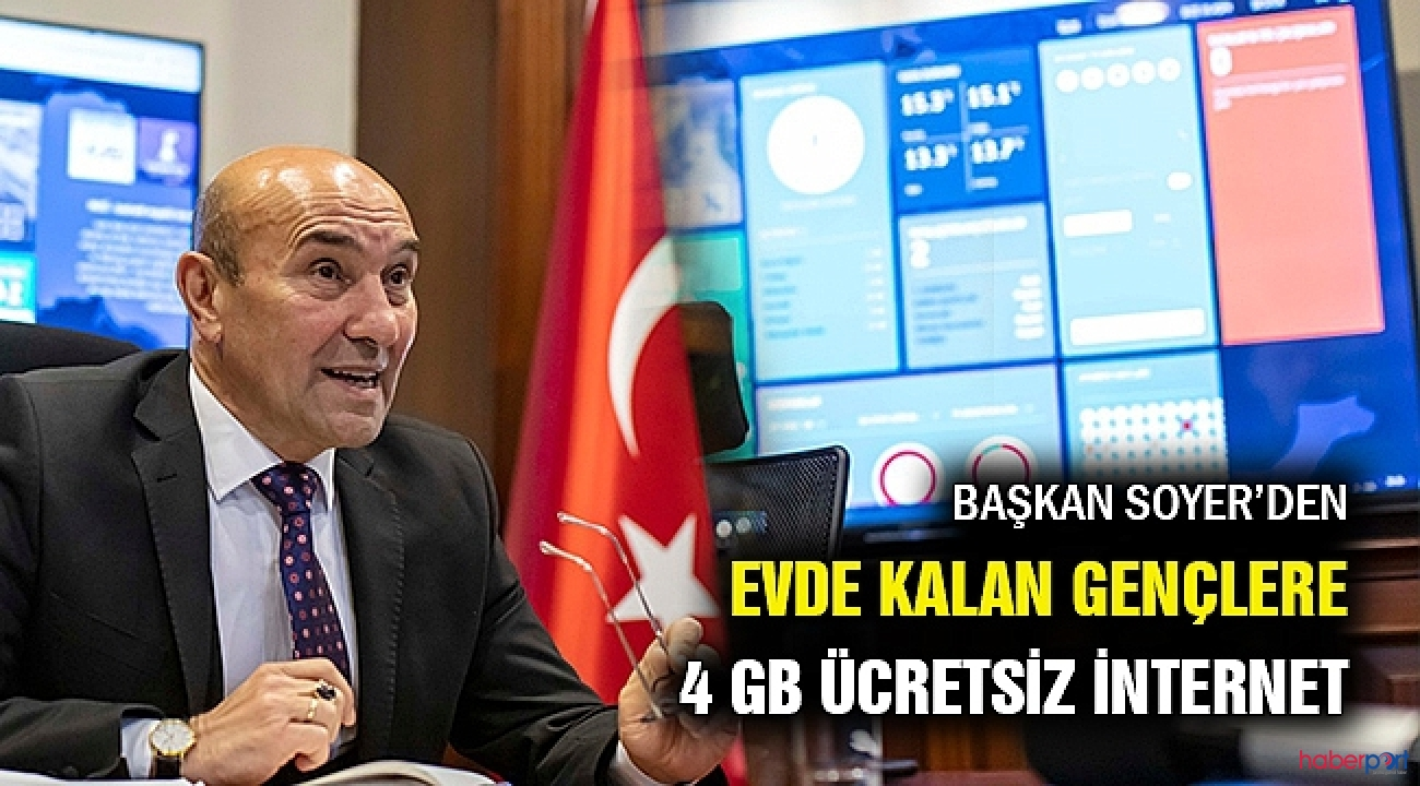 İzmir Belediyesinden gençlere 4 GB hediye internet paketi!
