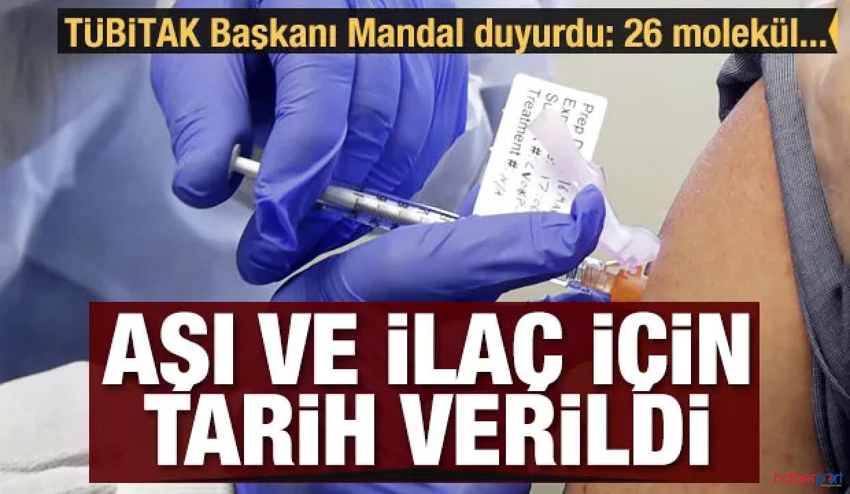 Kovid-19 aşısı ve ilacı ne zaman üretilecek? TÜBİTAK Başkanı 2021'i işaret etti