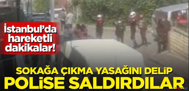 Küçükçekmece'de yasağa uymayan 6 kişi polislere karşı geldi