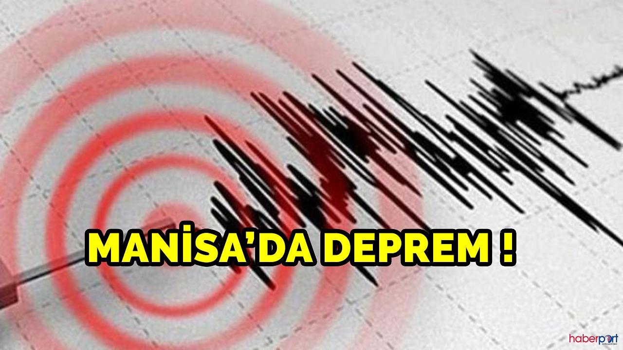 Manisa'da deprem! 4,1 şiddetinde sallandı