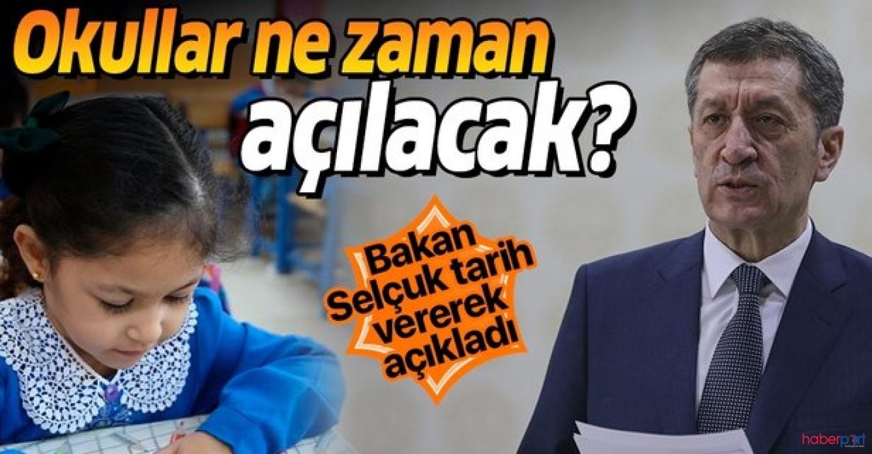 MEB Bakanı Selçuk, Okullarda eğitimin 1 Haziran'da başlayabileceğini açıkladı