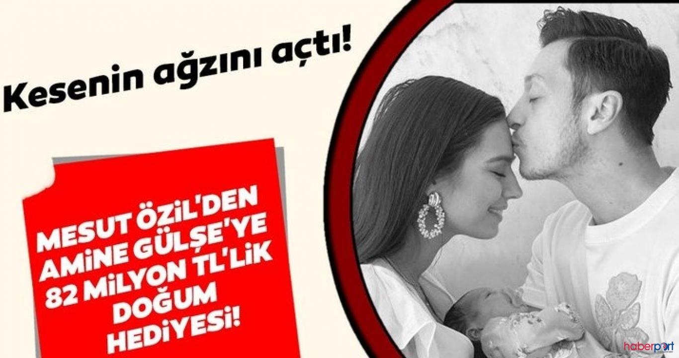 Mesut Özil'den Amine Gülşe'ye 82 milyon tl'lik dudak uçuklatan doğum hediyesi!