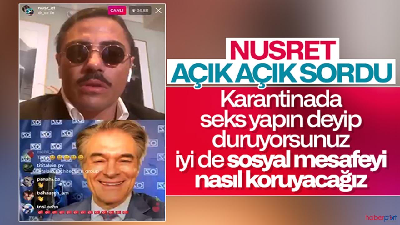 Nusret'ten Mehmet Öz'e beyin yakan seks sorusu!
