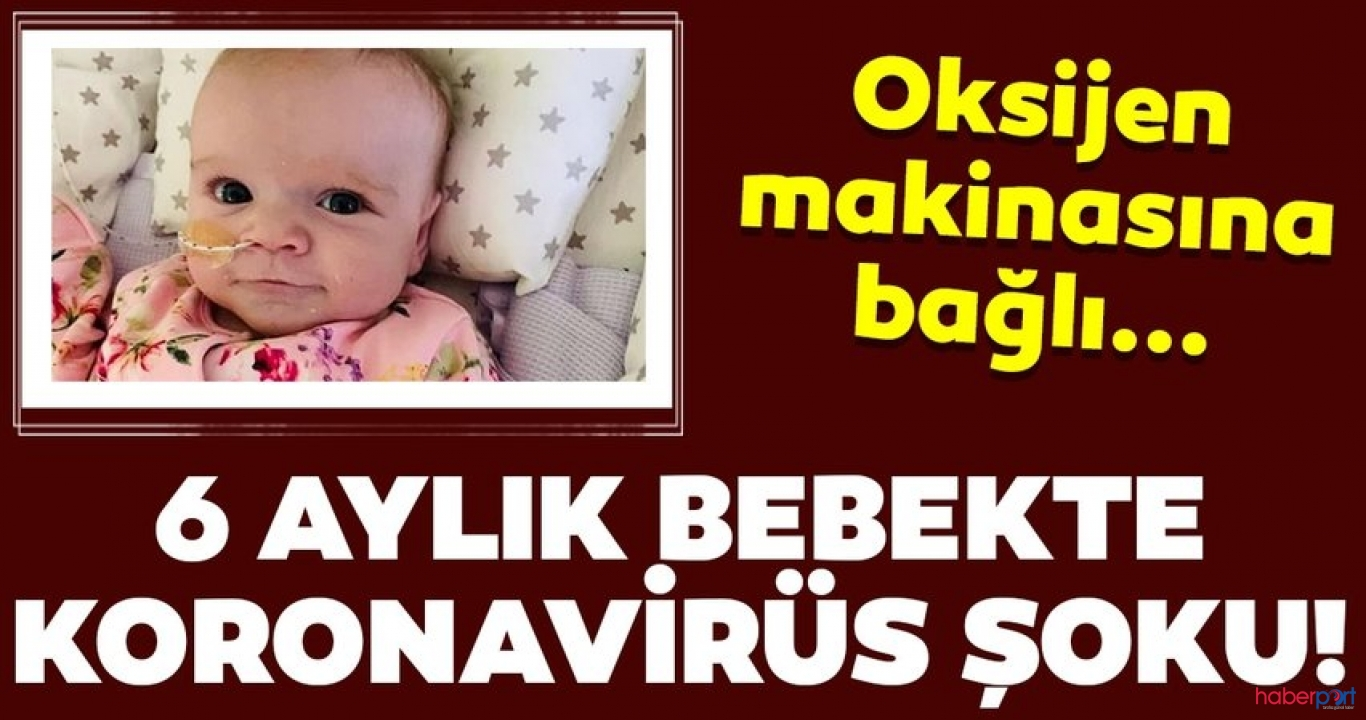 Oksijen makinesine bağlı yaşayan 6 aylık bebeğe Kovid-19 teşhisi kondu