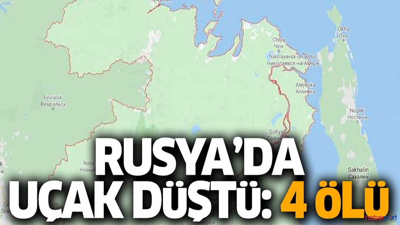 Rusya'da uçak kazası! Bilanço 4 ölü