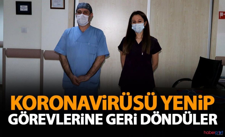Sağlıkçıların görev aşkı! Koronavirüsü yenip işe geri döndüler