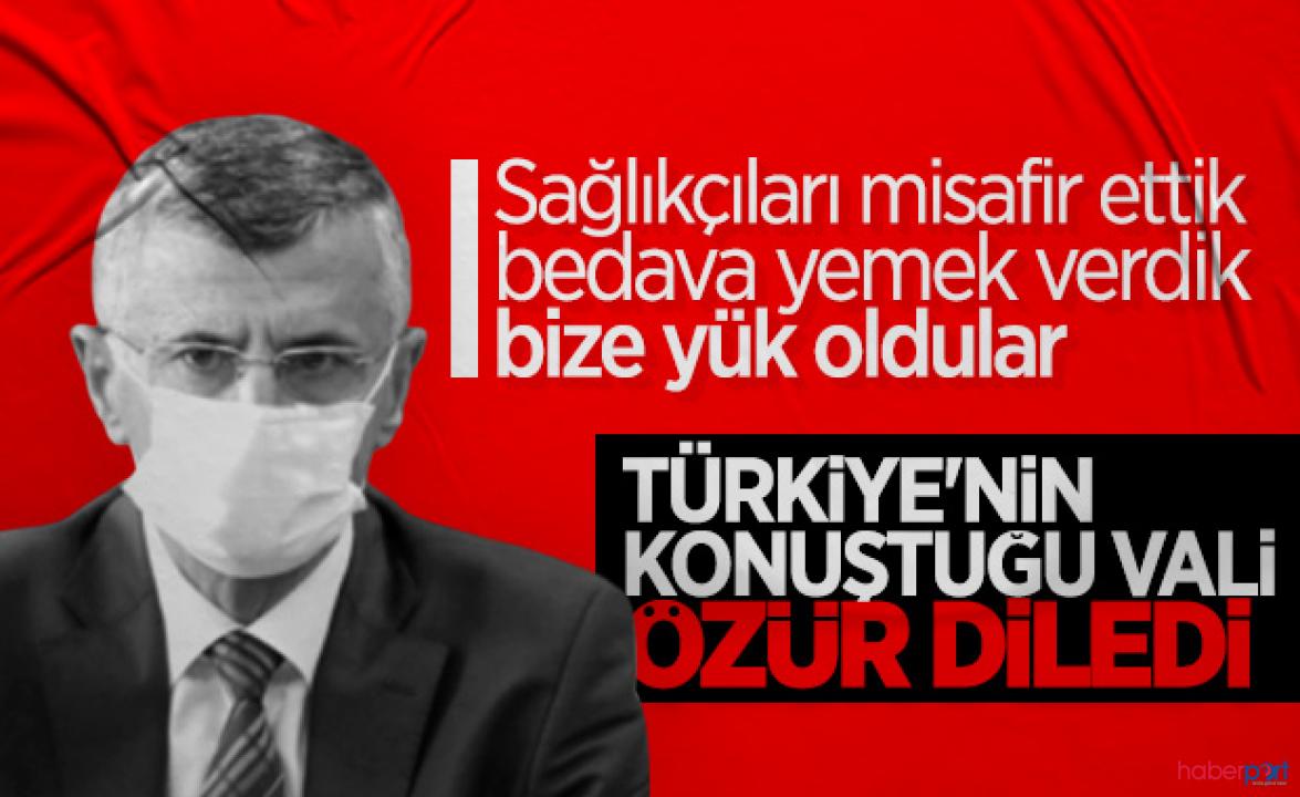 Sözleri tepki görmüştü! Zonguldak Valisinden sağlıkçılara özür mesajı