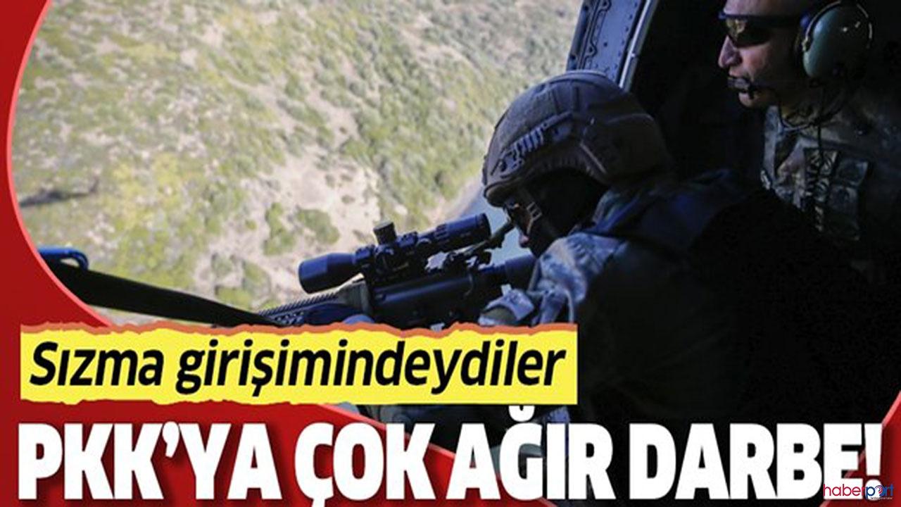 Terör örgütüne barış pınarı bölgesinde geçit yok! Sızma girişiminde ki 24 PKK'lı etkisiz hale getirildi