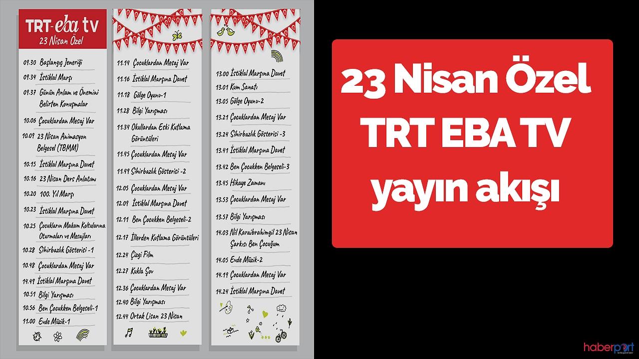 TRT EBA TV 23 Nisan özel yayın akışı