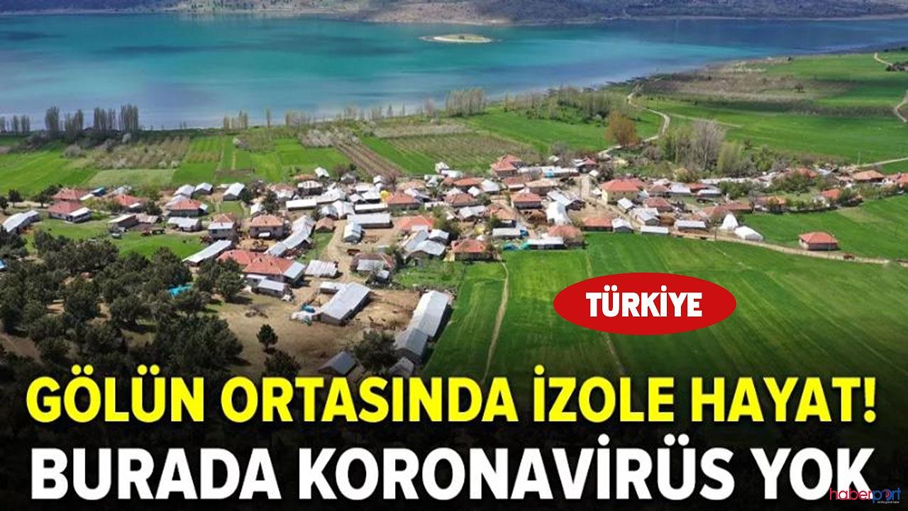 Türkiye'de bu adaya korona virüs giremedi!