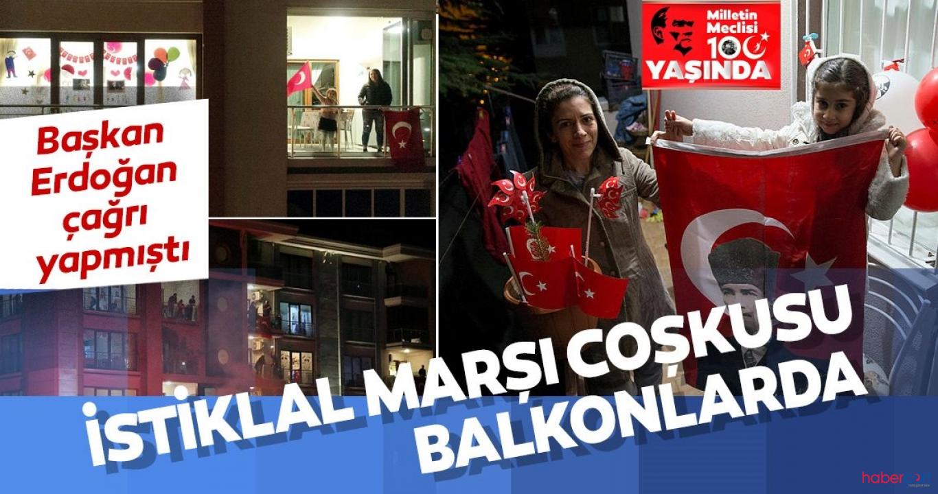 Türkiye, 23 Nisan coşkusunu balkonlarından İstiklal Marşı okuyarak yaşadı