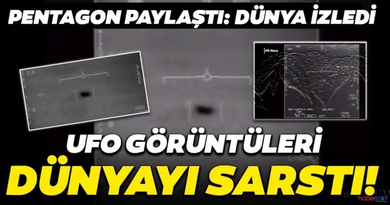 UFO'lar gerçek mi? sorusuna Pentagon'dan videolu yanıt!