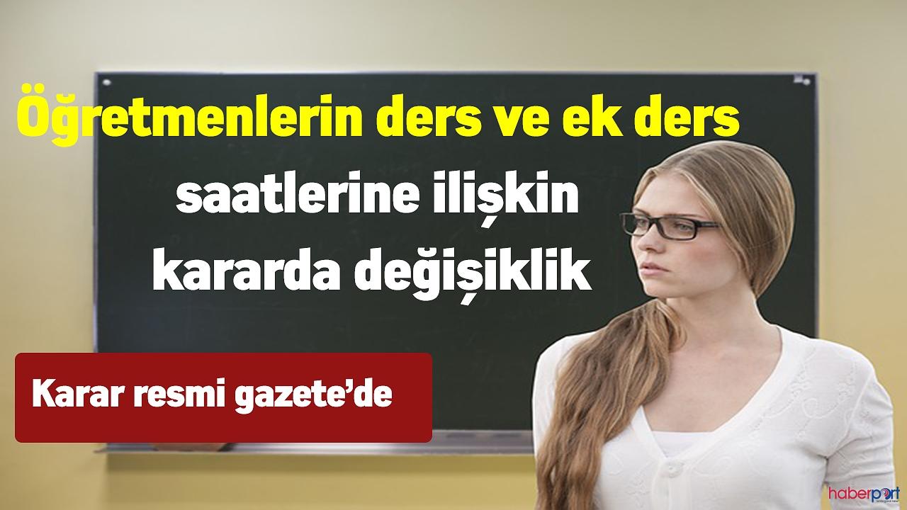 Uzaktan Eğitim Sürecinde Öğretmenlere ek ders ücreti ödenmesi kararı resmi gazete'de
