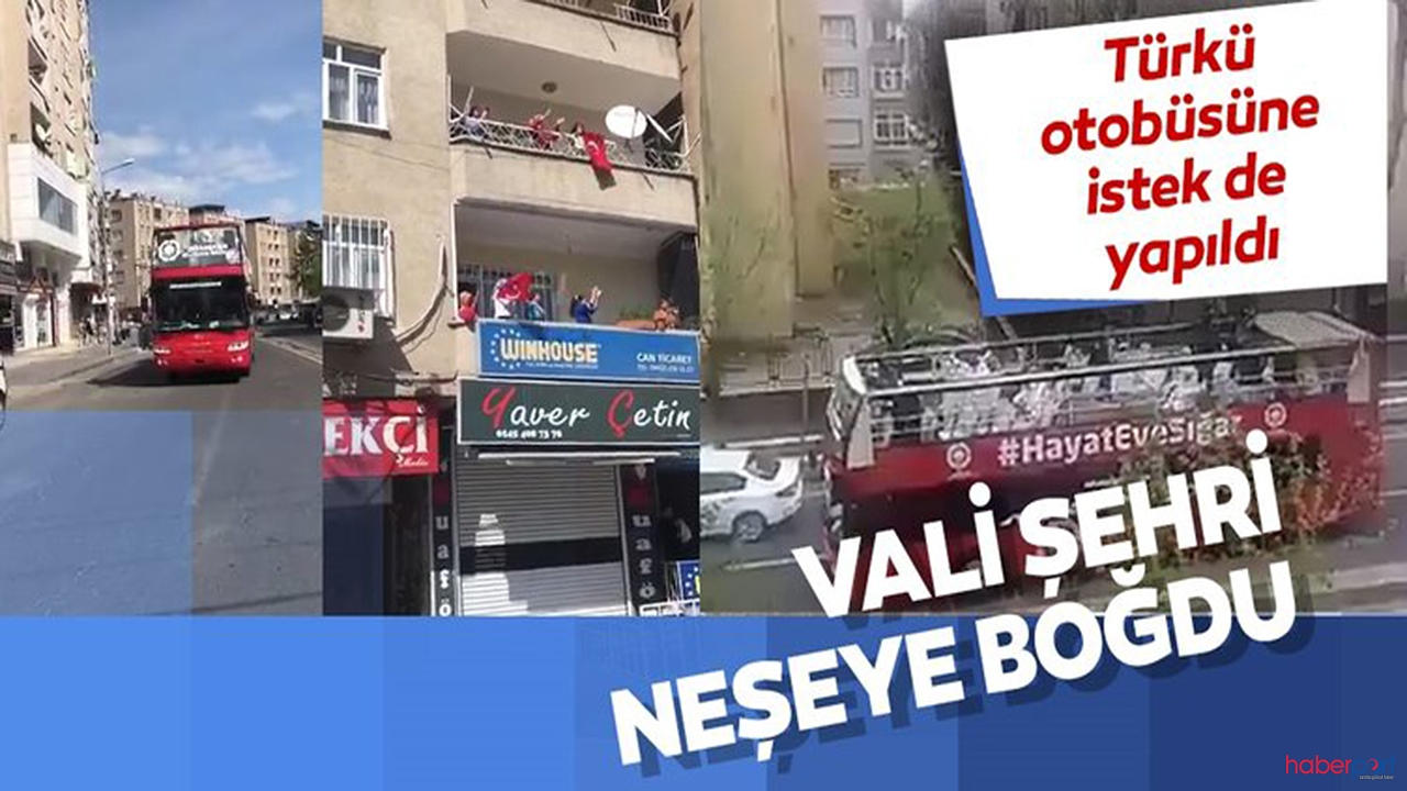Vali'den eve kapananlara gezen türkü otobüsü ile destek!
