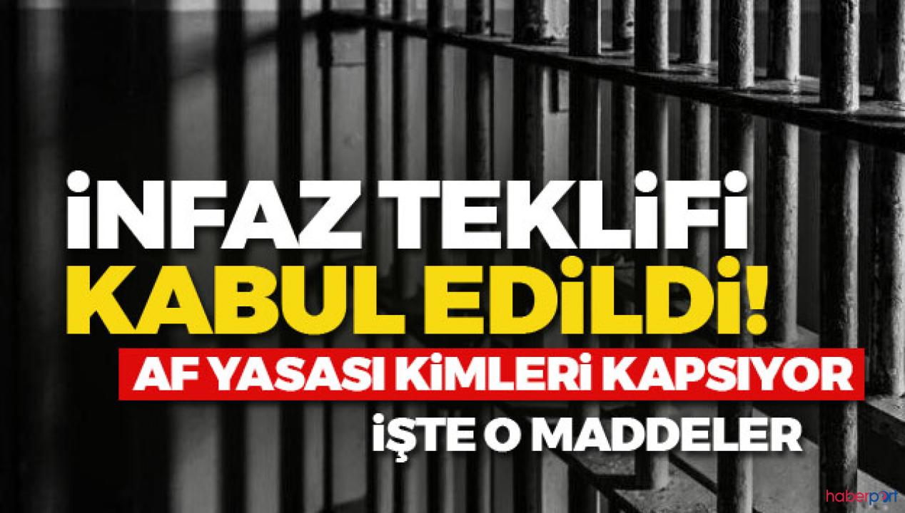 Yasalaşan infaz düzenlemesi kimleri kapsıyor? Af yasasından kimler tahliye olacak?
