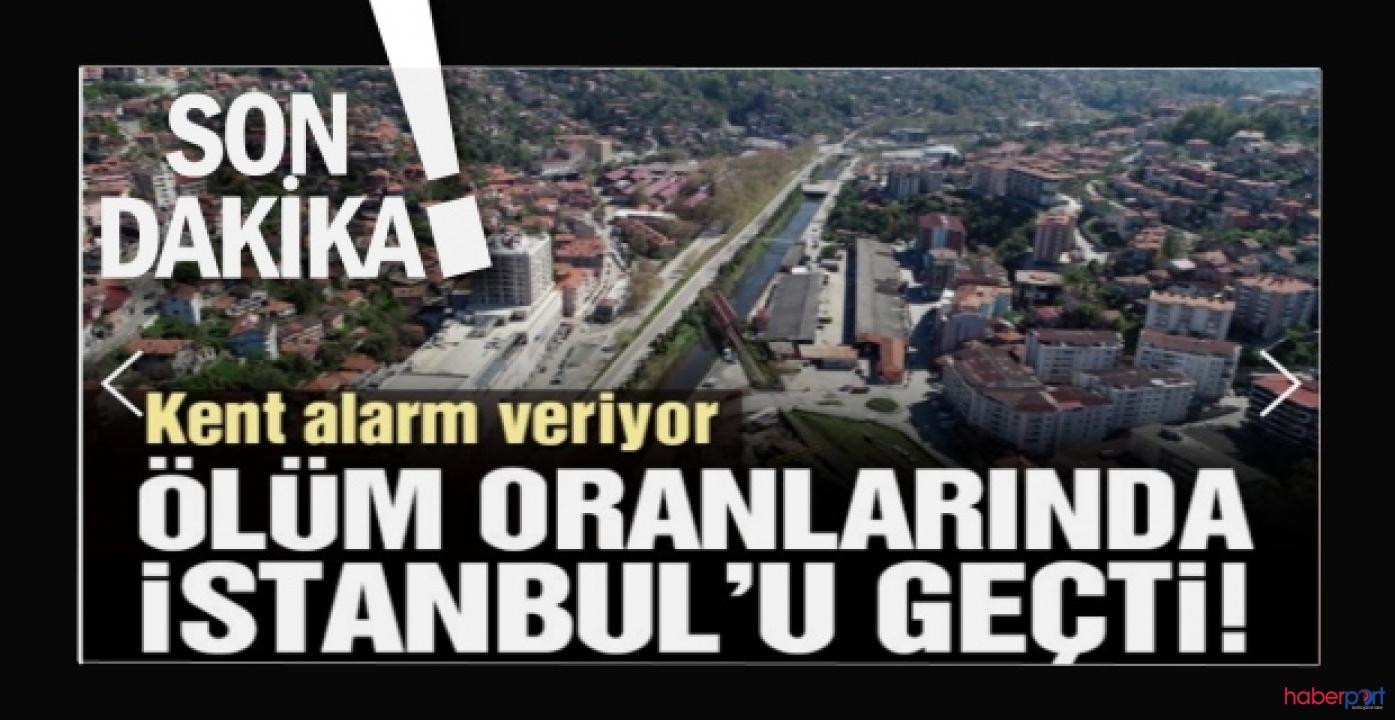 Zonguldak korona kaynaklı ölüm oranında alarm veriyor! İstanbul'u geçti!