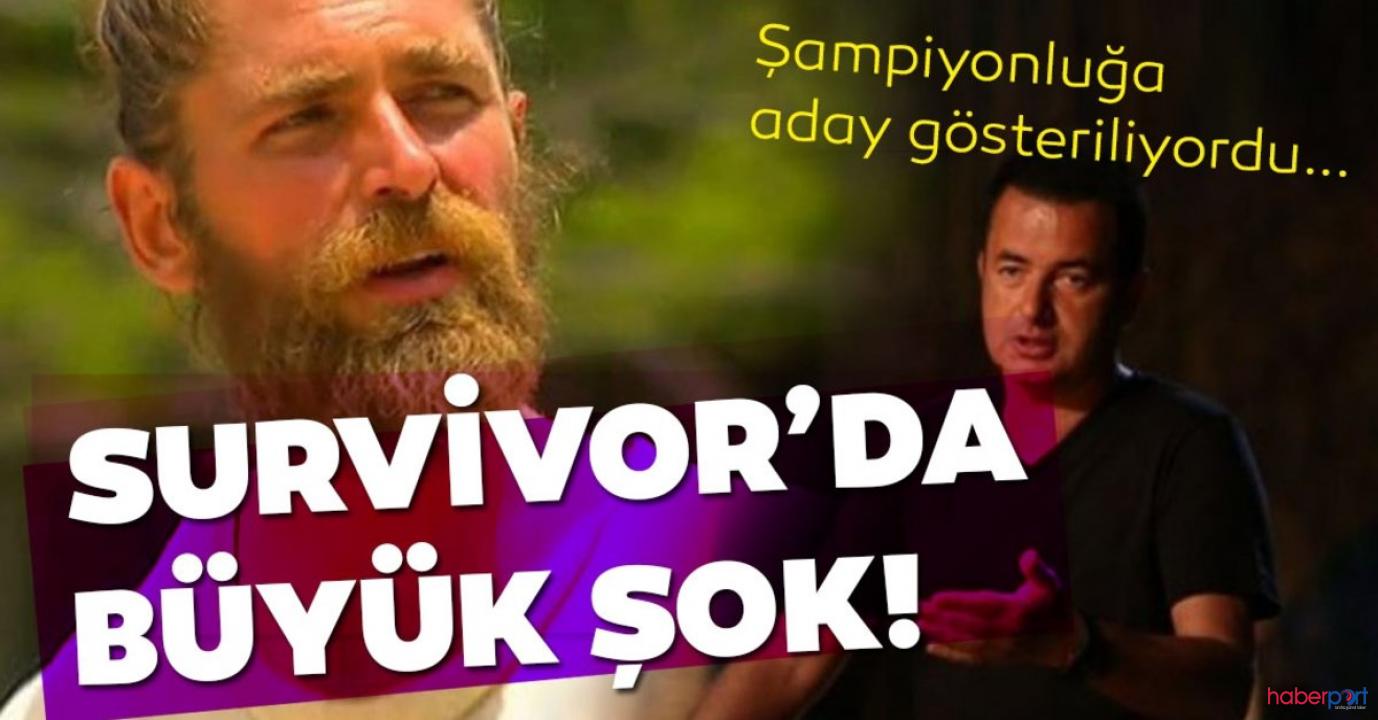 2020 Survivor yarışmasının ünlüler takımında Mert Öcal'a büyük şok!
