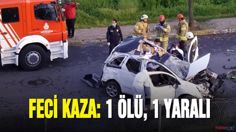 Bağcılar TEM'de korkunç kaza! Araç bariyeri aşarak caddeye uçtu