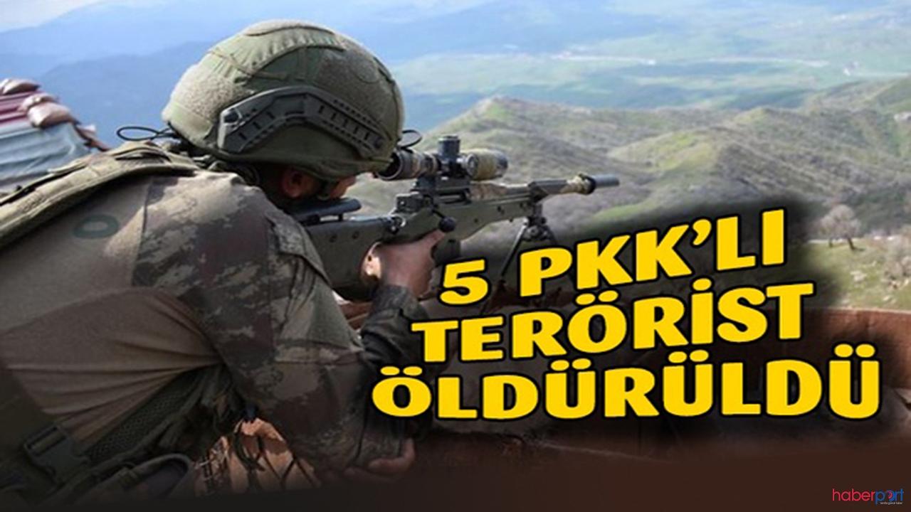 Bakan Soylu açıkladı! Şırnak'ta 5 terörist etkisiz hale getirildi