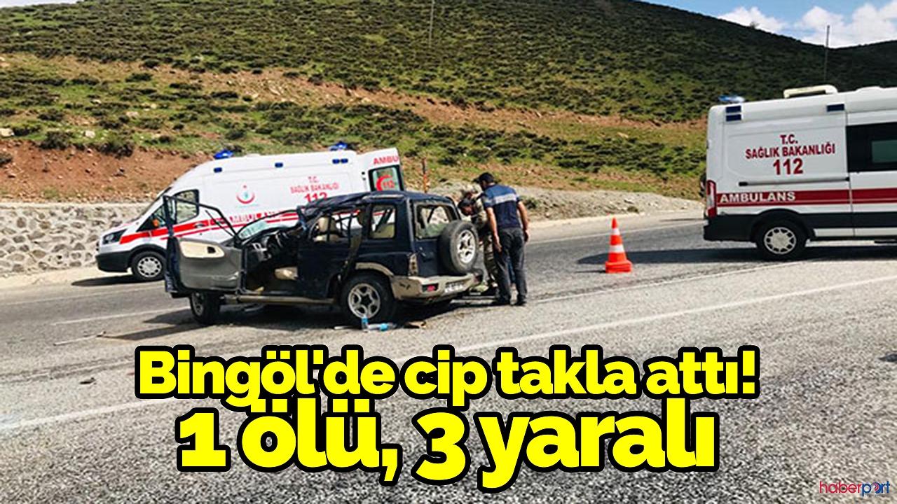 Bingöl'de feci cip kazası! 1 Ölü
