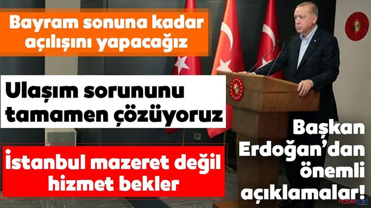 """Cumhurbaşkanı Erdoğan:""""koronavirüs vesaire bizi durdurmuyor"""""""