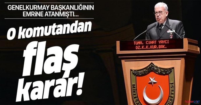 Cumhurbaşkanlığı kararıyla ataması yapılan Tümamiral Cihat Yaycı istifa etti