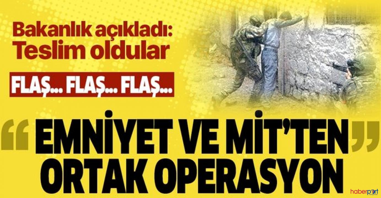 Emniyet ve MİT'ten ortak ikna operasyonu! 3 terörist teslim oldu