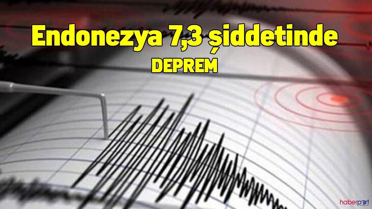 Endonezya 7,3 şiddetinde deprem ile sallandı