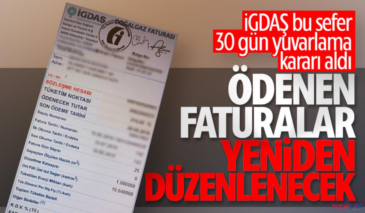 EPDK'nın uyarısı sonrası İGDAŞ'tan yeni fatura düzenlemesi