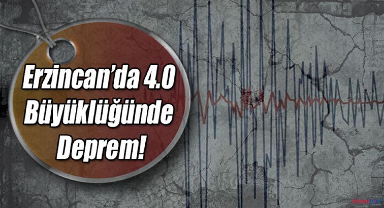 Erzincan'ın Kemaliye ilçesi 4 şiddetinde sallandı!