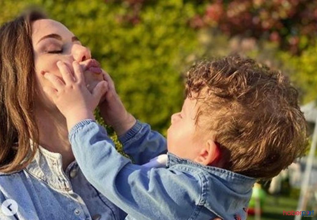 Fahriye Evcen anneler gününü Karan ile kutladı; İşte Karan'ın son hali
