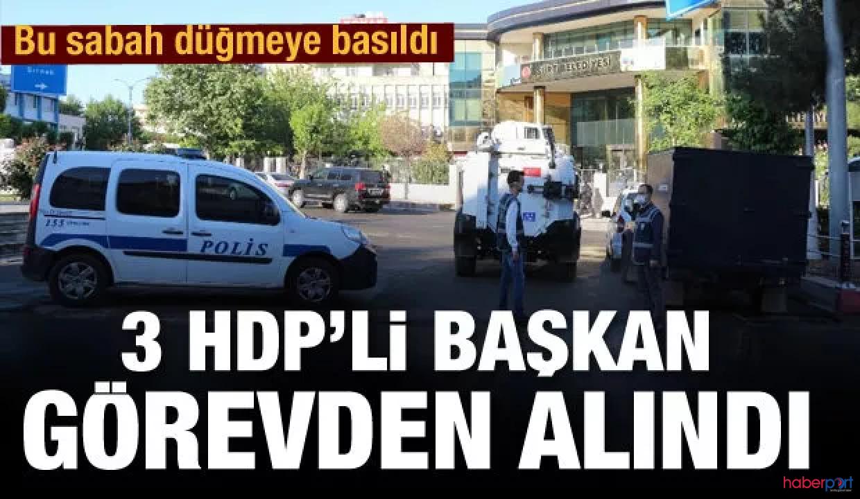 HDP'li 4 belediye başkanı gözaltına alındı! 3 belediyede kayyum kararı