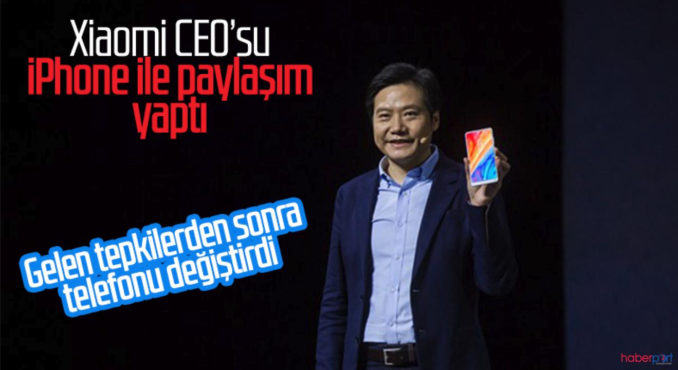 iPhone kullandığı anlaşılan Xiaomi CEO'suna büyük tepki!