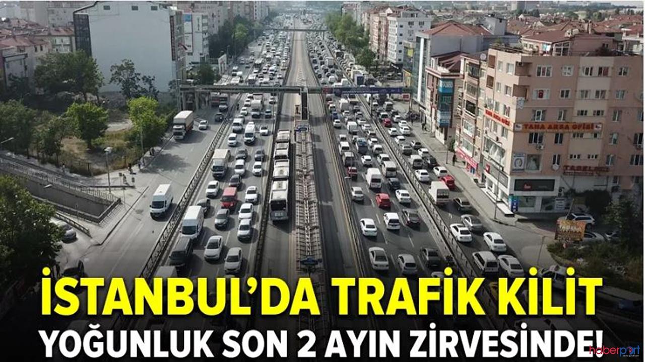 İstanbul'da trafik yine felç!