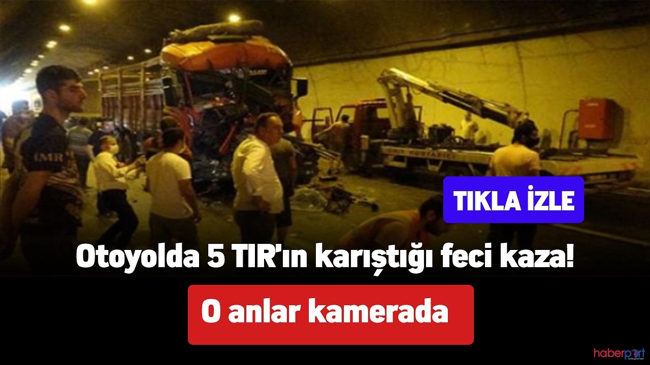 İzmit TEM otoyolun'da feci tır kazası!