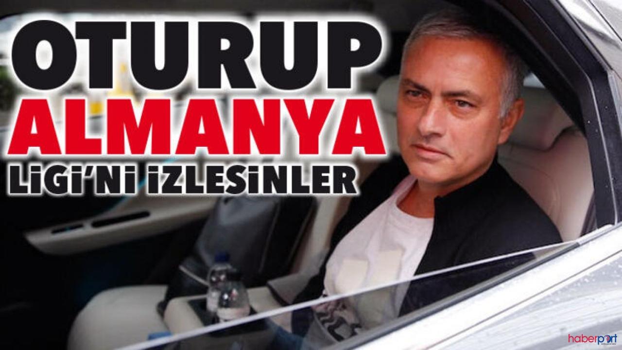 Jose Mourinho'dan, Premier Lig' teknik direktörlerine sert eleştri