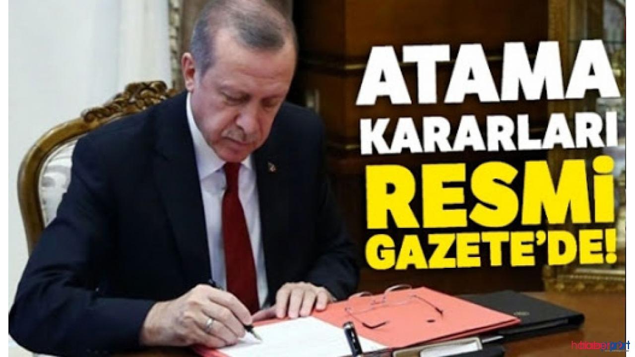 Kamuda yeni atama ve görevden alma kararları resmi gazete'de yayımlandı