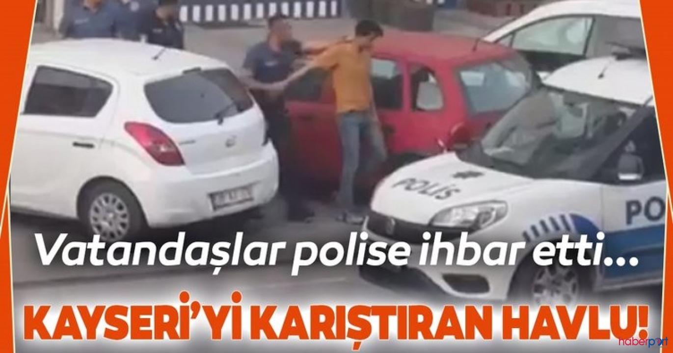 Kayseri'de balkona bayrak desenli havlu asan şahıs mahalle halkını öfkelendirdi!