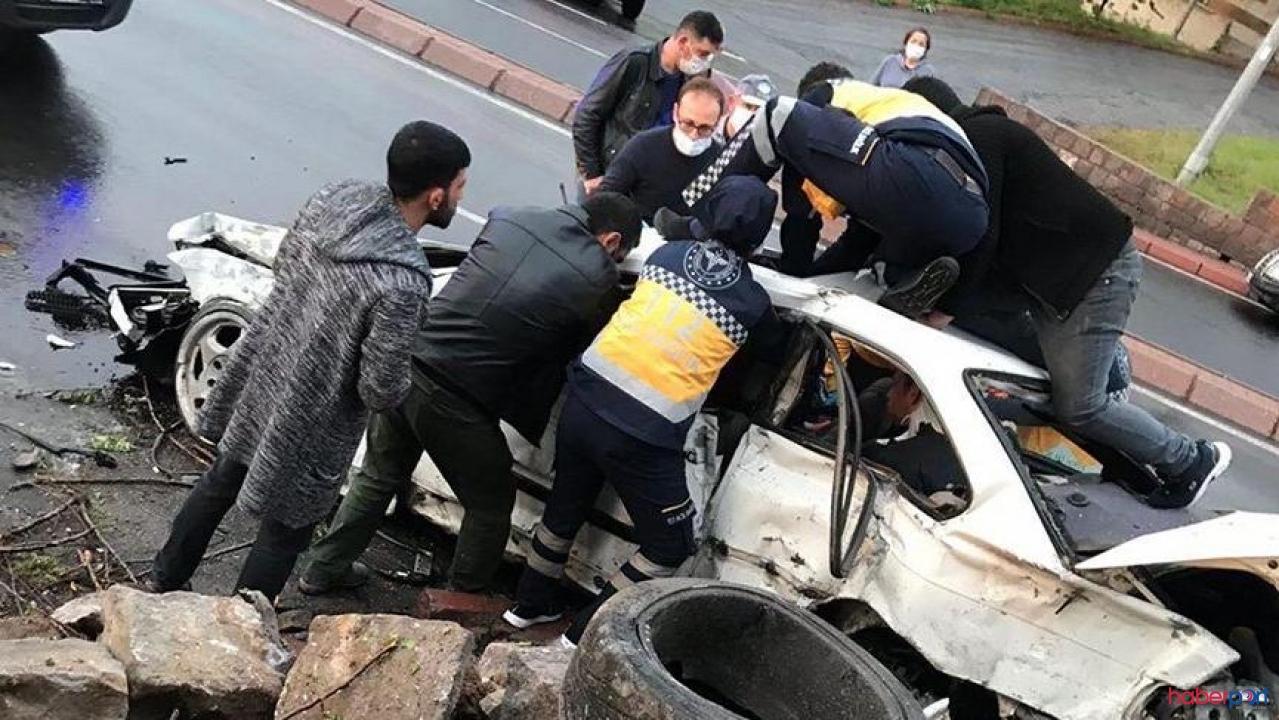 Kayseri'de sağanak yağış kaza getirdi! 1 ölü,2 yaralı