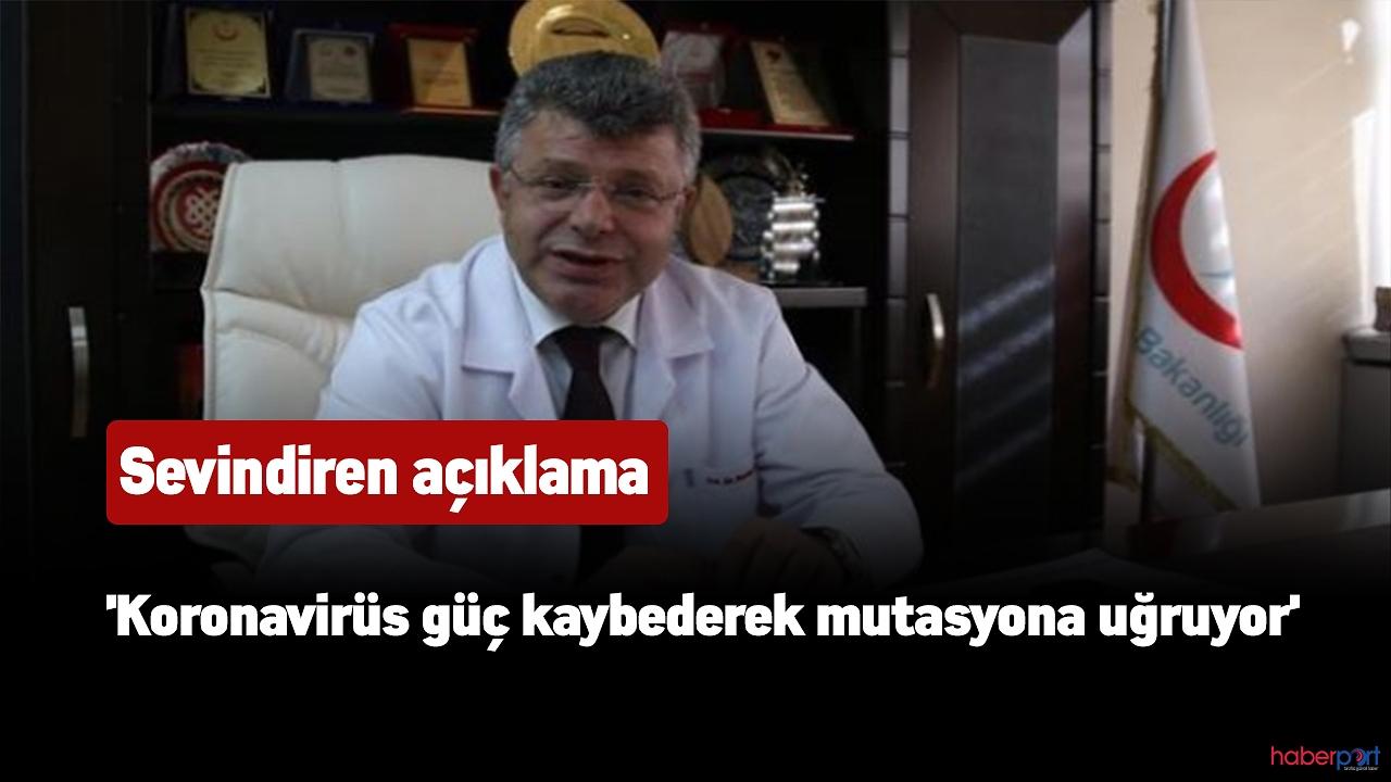 Lütfi Kırdar Eğitim ve Araştırma Hastanesi Başhekimi:'Koronavirüs mutasyona uğruyor'