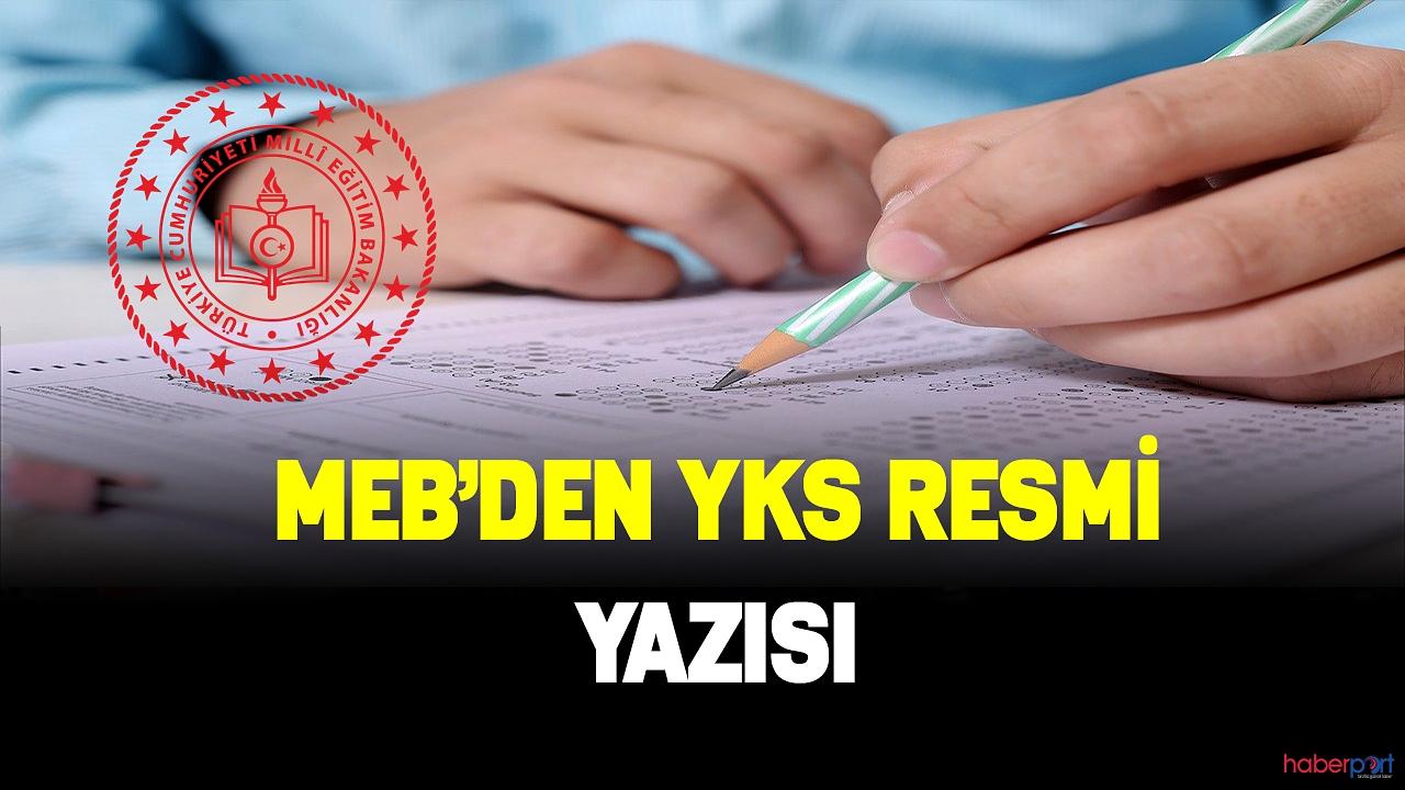 MEB YKS'ye girecek yatılı okuyan öğrenciler için resmi yazı