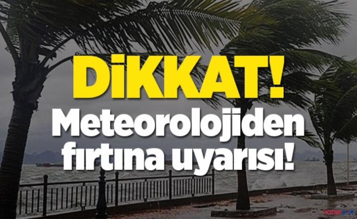 Meteorolojinin 6 Mayıs hava raporuna göre fırtına ve yağmur geliyor!