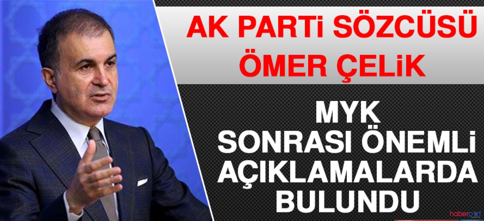 MYK'da neler görüşüldü? AK Parti sözcüsü Çelik açıkladı!