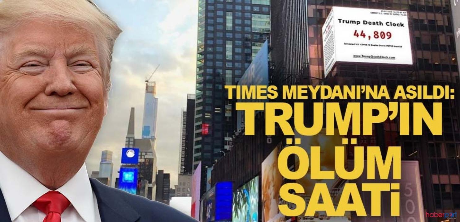 ABD Başkanı Trump'ın ölüm saati panosu Times Meydanı'na asıldı